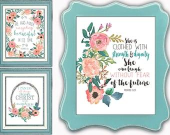 Set of 3 Faith Prints Sale
