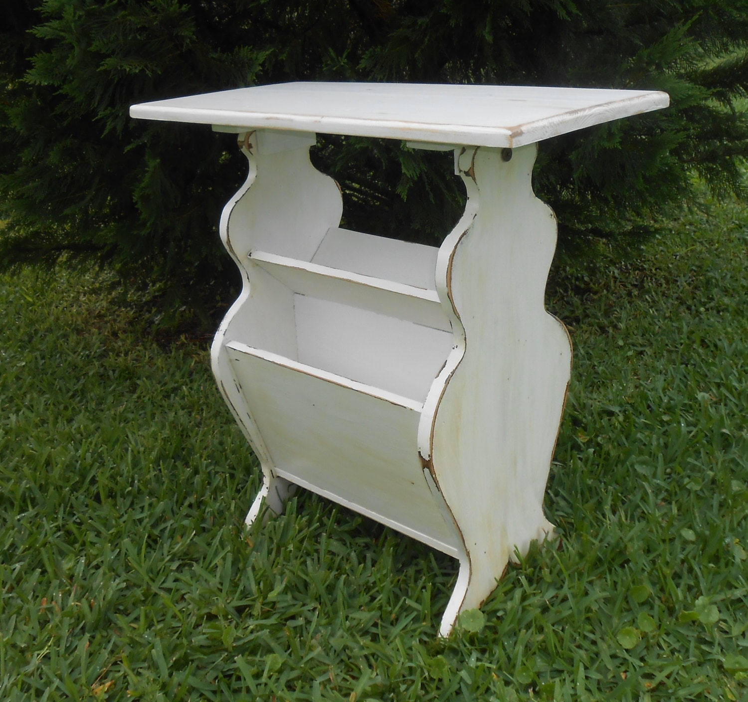 White end table side table with storage vintage end for White end table with storage