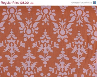 CLEARANCE Damask in Pink and Orange from Tiny Dancers by Melimba for Kokka