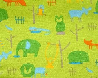 CLEARANCE Daiwabo Japan Wild Animals on Green by Fumika Oishi