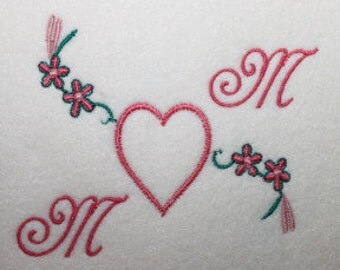 Mom Heart Mothers Day Digitized Machine Embroidery Design Graduation Mom Mum Mother