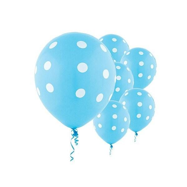 Room Full Of Light Blue Balloons