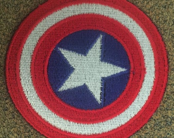 Star Shield Iron on or sew on Patches