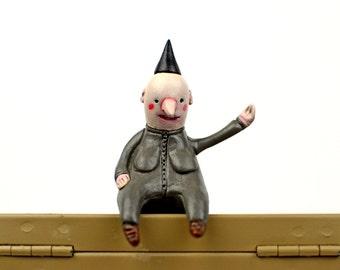 "Black Hat Edgefellows ""Karla"" - Sculpture, Miniature"