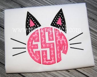 Kitty Cat Monogram - Custom Tee 2048
