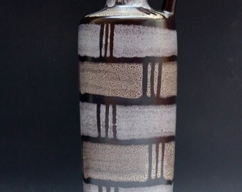 Strehla gold grey  vase Teal Lava East German Pottery 60s Eames era Mid century Fat Lava