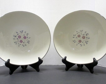 Edwin Knowles Century Service Criterion Shape - Anniversary Pattern - Large Vegetable Bowl - Lilac Lavender Grey (4 Available)