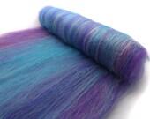 Spinning batts - Merino wool - Firestar - Silk - 100g - 3.5oz - MERMAID