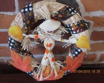Cornhusk Scarecrow Wreath