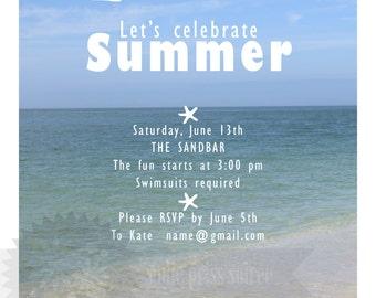 Beach Bash Party Invitation