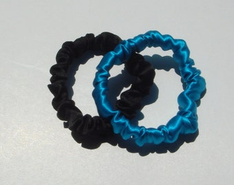 Silk Hair Scrunchies, 2 for 16.00