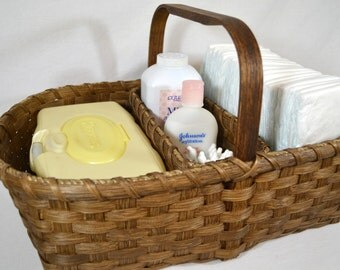 "BASKET PATTERN ""Lucy"" Divided Diaper Caddy, Craft, or Sewing Basket"