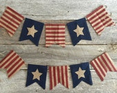 Stars and Stripes Burlap Banner,Burlap bunting,Stars and Stripes Banner,Patriotic Banner,4th of July Banner,Memorial Day Banner