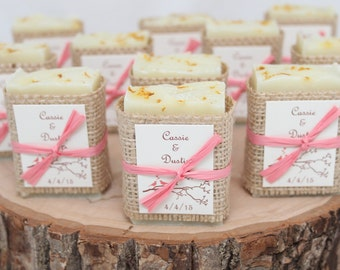100 Wedding Soap Favors ~ Handcrafted ~ Custom Favours ~ Bridal Shower ~ Baby Shower ~ Rustic Favors