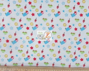 """100% Cotton Fabric - Stars And Trucks - 45"""" Wide By The Yard (FH-1767)"""