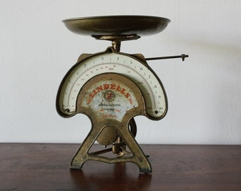 Vintage Swedish Kitchen Scales - Vintage Scale - Lindell's Vintage Kitchen - Industrial scale - Fruit holder - Lindells scale - Sverige