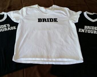 Bride's Entourage Jersey T-shirts