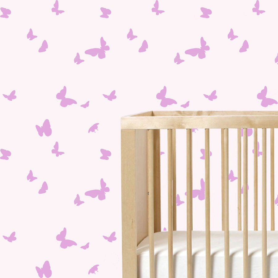 Butterfly wall stencil repeat pattern nursery stencil paint zoom amipublicfo Images