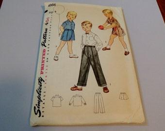 1950s Simplicity 4166 size 4 Boys pattern