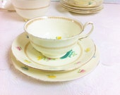 New Chelsea Tea Trio, Creamy Lemon with Pretty Flowers