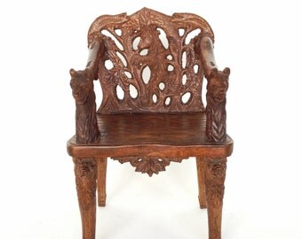 Black Forest Carved Chair