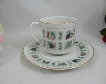 """Vintage Royal Doulton English Bone China Teacup English Teacup and Saucer set """"Tapestry"""" Pattern - 10 available - Wedding Bridal"""
