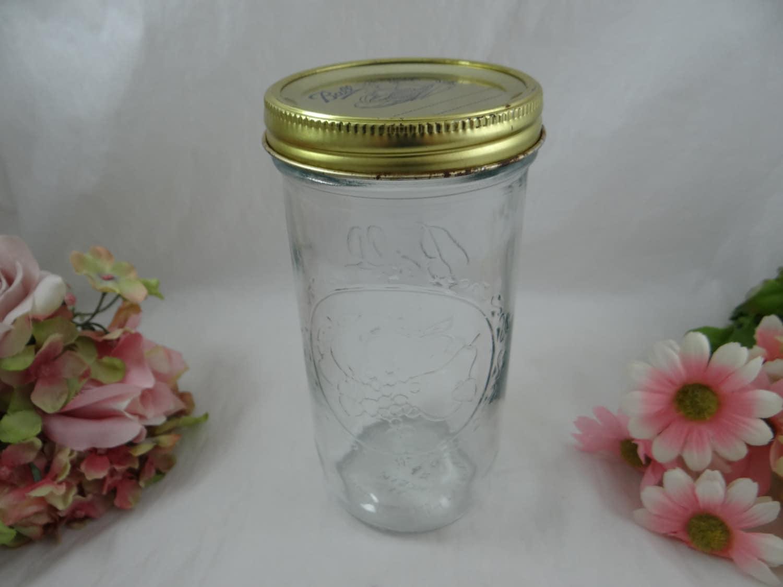 large wide mouth ball sculptured glass mason canning glass jar. Black Bedroom Furniture Sets. Home Design Ideas