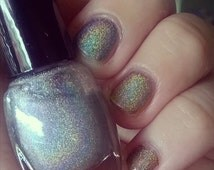 Hay Girl Nail Polish in Interference - Micro Glitter Rainbow Holographic Spectraflair Alternative