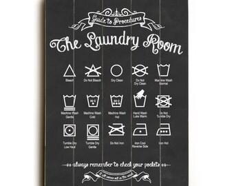 Laundry Symbols Art Laundry Symbols Poster Mid Century Midcentury Modern