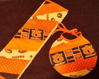 Auburn Burp Cloth and Bib Set