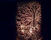Green Man Copper Candle Lantern (for indoor or outdoor use)