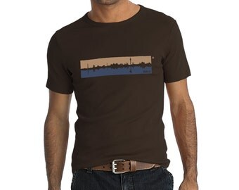 "Roundneck shirt unisex BERLIN-SPREE SKYLINE, ""Fair-Wair Foundation"" certified"