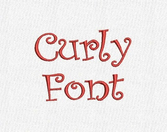 Curly Embroidery Font