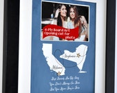 Personalized Best Friend Photo: Moving Away Gift Ideas Goodbye Best Friend Present Going Away Best Friend Gifts Maps Stars California Quote