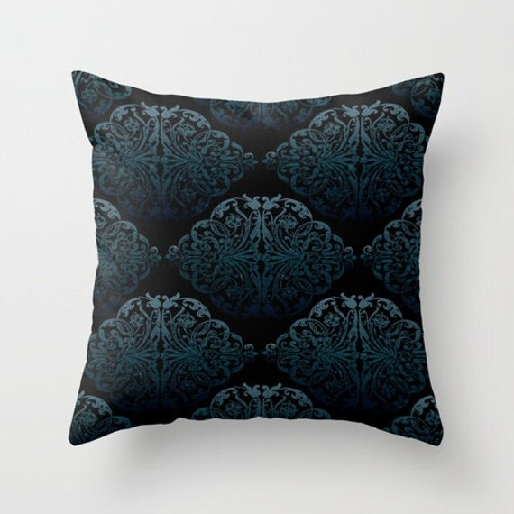 Retro Decorative Pillows : Blue Pattern Pillow cover Retro Pillow Throw pillow Cushion