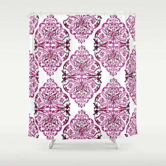 Lilac Shower Curtain Floral Shower Curtain Art Curtain