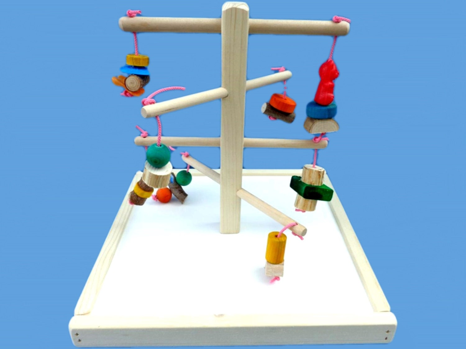 Small Toy Parrots : Bird toy play gym for small and medium birds parrot