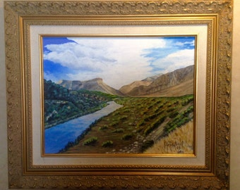Rio Grande River Framed Painting