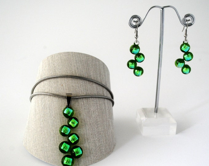 Glassberry Earring or Necklace Green