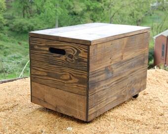 Wooden Crate Toy Chest Storage Box Toy Storage