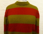 Custom Listing for Roddegilles -Crew Neck Sweater Jumper Hand Knitted, Freddy Kruger, Fancy Dress Cosplay Sweater