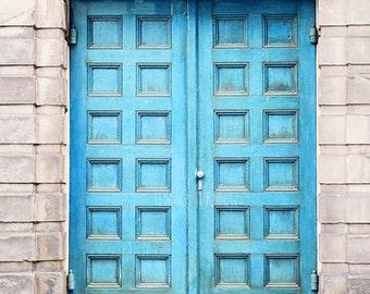 Blue Paris Door, Door Art, Photography Print of Paris, Paris Blue, Blue Art, Electric, Vibrant, Colorful Art