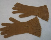 Brown Crocheted Gloves
