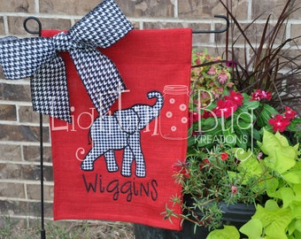Personalized Roll Tide Alabama Yard/Garden Burlap Flag