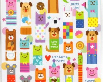 Japan Mind Wave Kawaii SPECIAL HOURS Animal sticker sheet