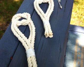 Nautical Boutonniere - Nautical Wedding - Rope Lapel Pins
