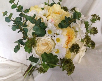 Artificial Wild Flower Spring Country Style Daisy Flower Bouquet