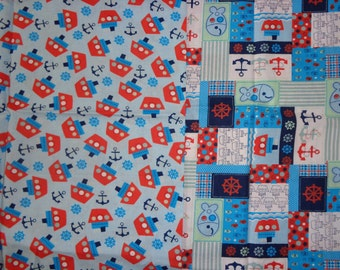 30 and 34 Inch Boat/Sailing Cotton Fabric Remnants