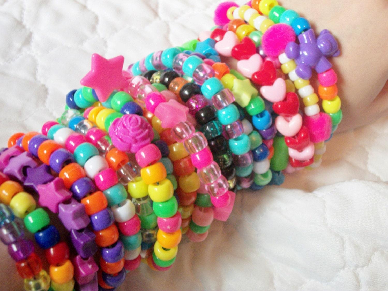 20 kandi bracelets colorful rainbow by