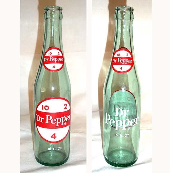 VINTAGE Dr Pepper Bottle 10 2 4 Good For Life 6 1/2
